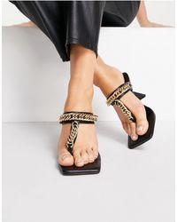 TOPSHOP Nova Chain Mule Sandal - Black
