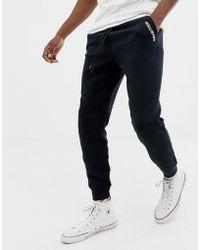 Hollister - Pocket Logo Slim Fit Cuffed jogger In Black - Lyst