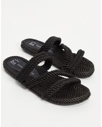 South Beach – sandalette im seildesign - Schwarz