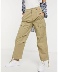 ASOS Cargo Pants With Utility Pockets - Natural