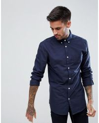 New Look | Oxford Shirt In Navy | Lyst