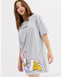 ASOS Disney Daisy Duck Sleep Tee-grey - Gray
