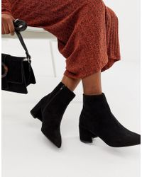 3da38bac4d0 Block Heel Ankle Boots - Black