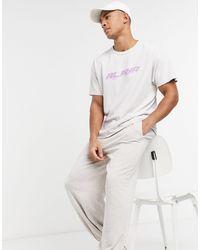 New Look Кремовая Окрашенная Oversized-футболка С Принтом -белый