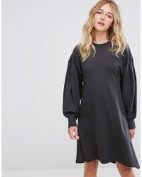 Monki - Skater Midi Sweat Dress - Lyst