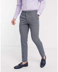 ASOS Wedding – Enge Anzughose aus Wollmischung - Blau