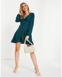 AX Paris V-neck Mini Dress - Green