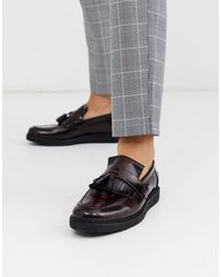 Fred Perry George Cox - Mocassini bordeaux - Rosso