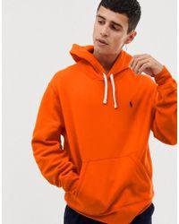 Polo Ralph Lauren Sportieve Hoodie Met Logo In Oranje