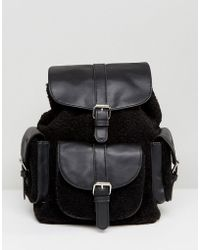 Glamorous | Shealring Pocket Detail Backpack In Black | Lyst