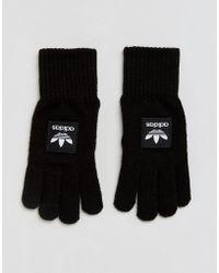 adidas Originals Adidas Gloves With Contrast Branding In Black