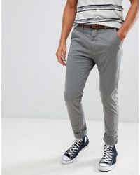 Blend - Chinos With Belt - Lyst