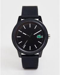 Lacoste - Черные Часы С Силиконовым Ремешком 12.12-черный - Lyst