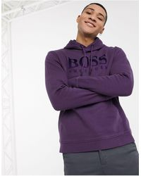 BOSS by HUGO BOSS Худи С Логотипом -фиолетовый - Пурпурный