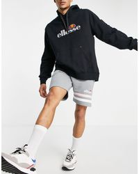 Ellesse Shorts grises con logo en tejido - Morado