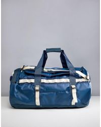 The North Face - Base Camp Duffel Bag Medium 71 Litres In Blue/white - Lyst
