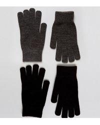 Monki 2 Pack Gloves - Black