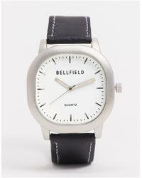 Bellfield - Часы С Белым Циферблатом -черный - Lyst