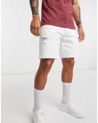 Abercrombie & Fitch Pantalones vaqueros cortos en blanco