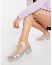 London Rebel Jelly Heeled Shoes - Multicolour