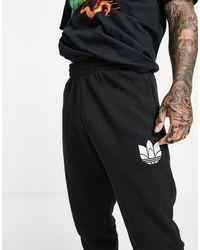 adidas Originals Черные Джоггеры С 3d Трилистником -черный Цвет