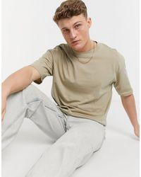 Jack & Jones - Core - T-shirt coupe carrée - Beige - Lyst