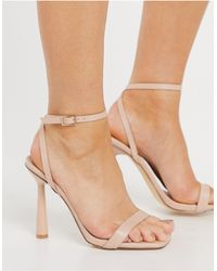 Truffle Collection Barely There Heeled Sandals - Natural
