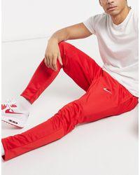 Nike Красные Трикотажные Джоггеры С Вышитым Логотипом-галочкой Nike Air-красный