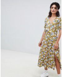 Mango - Floral Midaxi Tea Dress In Multi - Lyst