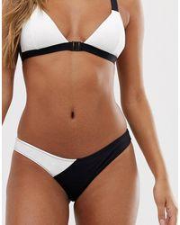 Volcom Simply Rib Monochrome Bikini Bottom - White