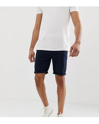 ASOS Tall - Bermuda chino skinny - Bleu marine