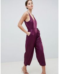 AX Paris Комбинезон-кюлоты -фиолетовый - Пурпурный