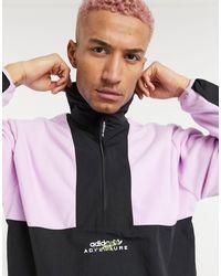 adidas Originals Half Zip Fleece Co-ord - Black