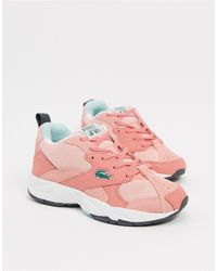 Lacoste Массивные Кроссовки С Розовыми Вставками Storm-розовый