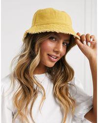 ASOS Cappello da pescatore di tela senape - Multicolore