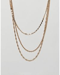 ASOS - Vintage Style Layered Chain Pack In Gold Tone - Lyst