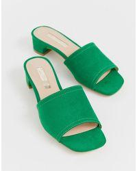 Miss Selfridge Sabot con tacco basso verdi - Verde