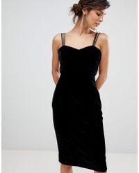 Coast - Scarlett Velvet Slip Dress - Lyst