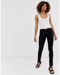 Cheap Monday Mid Rise Skinny Jean - Black
