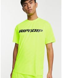RIPNDIP RIPNDIP - MBN Stripe Soccer - T-shirt verde fluo
