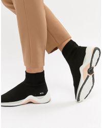 Kurt Geiger Sneakers a calza nere con dettaglio fluo - Nero