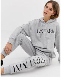 Ivy Park Joggers avec logo - Gris