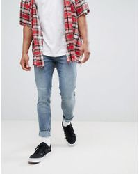 Just Junkies - Super Skinny Faded Washed Jeans - Lyst