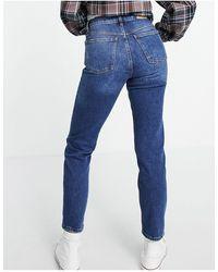 Mango Mom jeans corti blu