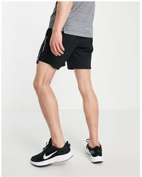 Nike Черные Шорты Длиной 7 Дюймов «2 В 1» Flex Stride-черный