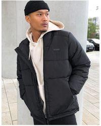 Bershka Padded Puffer Jacket With Hood - Black
