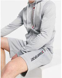 Tommy Hilfiger Флисовые Шорты Длиной 9 Дюймов С Логотипом Sport-серый