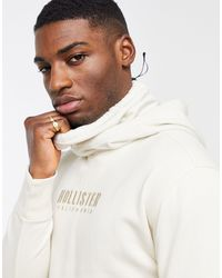 Hollister Бежевый Худи-снуд С Логотипом -коричневый Цвет - Белый