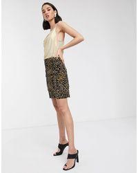 Soaked In Luxury Minifalda con estampado - Negro