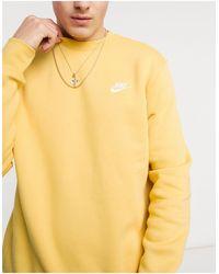 Nike Club - Sweater Met Ronde Hals - Geel